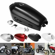 For Honda Cafe Racer 2.4 Gallon Motorcycle 9l Fuel Gas Tank W/ Cap Universal Us