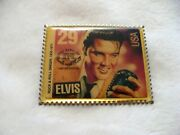 Nb- 1992 Usps Elvis Rock And Roll Stamp Tie Tac Pin 21449