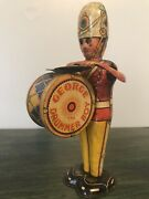 1930and039s George The Drummer Boy Marx Tin Windup Vintage Litho