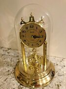Vintage Classic Bulova Anniversary Dome Clock Made In Germany Mint Condition