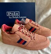 Polo Clot Court Suede Menand039s Sneakers Shoes 9 Terracotta New In Box