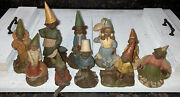 Vintage Hand Carved Figurines Tom Clark Gnome Lot Of 10 1970's, 80's, And 90's