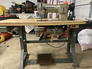 Singer Industrial Sewing Machine 531b-88l And Table