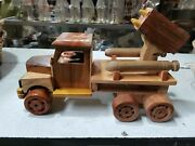 Toy Wooden Army Truck Toy Vintage Tradition Handmade Home Decorate Free Shipping