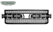 """Replacement Black Grille For 19-21 Chevy Silverado 1500 2x 6"""" Bar Led W/o Camera"""