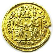 373 - 375 Ad Ancient Roman Gold Solidus Of Emperor Valens Minted At Trier