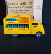 New Smith Miller Gmc Coke Cola Delivery Truck In Original Box With Coke Cases