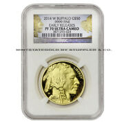 2014-w 50 Buffalo Ngc Pf70ucam Ultra Cameo Gold Proof Coin Early Releases Er