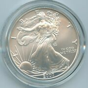 2007-w Burnished Silver Eagle American Ase .999 Fine One Oz Round Coin 16 Ogp