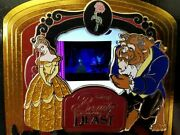 Rare Podm Piece Of Disney Movies Movie Beauty And The Beast Rose Mirror Pin