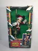 Mr. Christmas Mickey Mouse Animated Tree Topper 1994 With Box Works Great