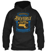 Beverly Ma It's Where My Story Begins Pullover Hoodie - Poly/cotton Blend