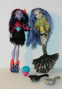 Monster High Doll Lot Of 2 Sirena Von Boo And Jane Boolittle Loose Accessories