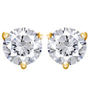 3/4 Cttw Certified Diamond Stud Earrings In 18k Yellow Gold Christmas Special