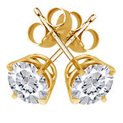 1/2 Ctw Diamond Stud Earrings In 14k Yellow Gold Christmas Special