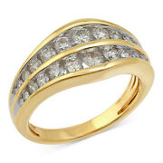 Diamond Channel Set Anniversary Band 1cttw In 14k Yellow Gold Christmas Special