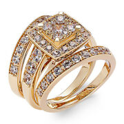 2 Ctw Diamond Engagement Ring Bridal Set 14k Yellow Gold Christmas Special