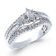 1 Cttw Diamond Marquise Engagement Ring In 14k White Gold Christmas Special