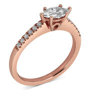 5/8ct Diamond East West Marquise Engagement Ring 14k Rose Gold Christmas Special