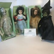 Seymour Mann Storybook Tiny Tots Wizard Of Oz Collection Lot 4 Dolls10 W Stands