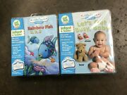 Little Touch Leap Pad Rainbow Fish 1, 2, 3 And Let's Get Busy, Baby New