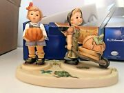 Hummel Little Landscaper / From The Pumpkin Patch + Base New In Box Htf Signed
