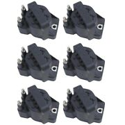 Set-wkp9201005-6 Walker Products Set Of 6 Ignition Coils New For Chevy Olds