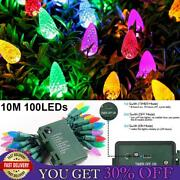 Battery Led Multicolor Strawberry Bulb Fairy String Lights Xmas Party Waterproof