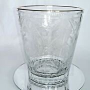 Faberge Crystal Champagne Ice Bucket Chiller Special Edition 22kt