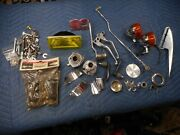 Lot 2 Harley Davidson Motorcycle Parts Lights Brackets Foot Pegs Levers