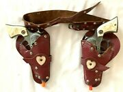 1940's Keyston Bros. Dale Evans Double Cap Gun And Holster Set