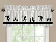 Bowling Bowler Window Valance/curtain Your Choice Of Colors