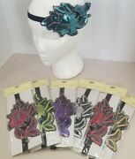 Lot Of 60 New Flapper Sequin Headband - 6 Different Colors Wrapped Individually