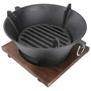 1 Set Of Bbq Tool Iron Charcoal Fire Stove For Camping Outdoor