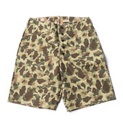 Bronson Usmc P42 Mens Duck Hunting Double-faced Camouflage Shorts Loose Trousers
