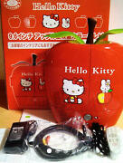 Sanrio Hello Kitty 9.6 Inch Apple Shaped Lcd Tv Mini Television Red