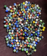Vintage Marbles For Sale-large Lot-250 Marbles-multicolored And Sizes-3 Pounds