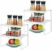 Spice Rack Cabinet Shelf Organizers, Set Of 4 Kitchen Shelves For Counter Cup