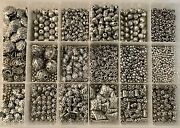 Lot Of Silver Pewter Beads And Findings 4 Boxes