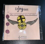 Harry Potter Limited Edition Golden Snitch Enamel Pin Moving Litjoy Crate