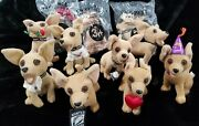 Taco Bell Chihuahua 6 Talking Plush Dog Lot Of 11 Dogs Most Working 3 Sealed