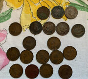 Indian Head Pennies - Lot Of 19 Assorted Dates And Condition 1892 - 1905