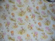 Vintage Joan Walsh Anglund Quilted Childrens Fabric 73 X 44 Igc, Unmarked