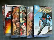 Dc New 52 Action Comics Vol. 123457 Sealed Hardcovers