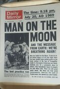 Vintage Daily Mirror Newspaper Reprint First Man On The Moon 1969 Mint Conditio