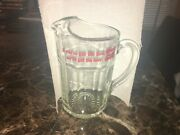 Vtg Miller High Life If You Have The Time We've Got The Beer Glass Pitcher