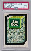 1974 Topps Wacky Packages Tic Toc Candy Psa 9 Mint Series 10 Packs Centered