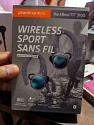 Plantronics Backbeat Fit 3100 True Wireless Earbuds In Gray With Charging Case