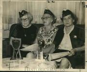 1968 Press Photo Veterans Of World War One-ann Badeaux And Auxiliary Officers