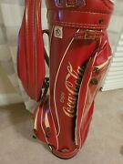 Vintage Ron Miller Coca-cola Golf Bag With The Original Towel Included. Great Co